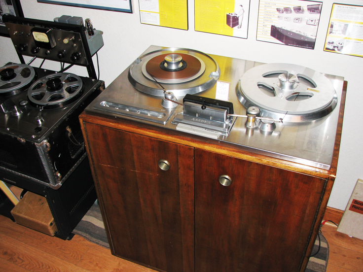Phantom Productions, Inc.'s Ampex 200-A on display at the Phantom studio