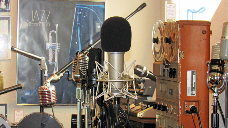 Neumann, Shure, EV, RCA,Uher Sennheiser microphones  in the Reel2ReelTexas.com vintage recording collection